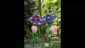 Nature Themed Act Flower Stilt Walkers Walkabout Act Netherlands